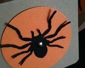 FREE SHIPPING SET OF 6 MINI SPIDER HALLOWEEN CARDS 2.5 X 2.5