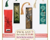 RESERVED LISTING FOR JOYCE - Pick any 7 Bookmark Prints from my Shop - Gift Set  Includes Free Gift Wrap