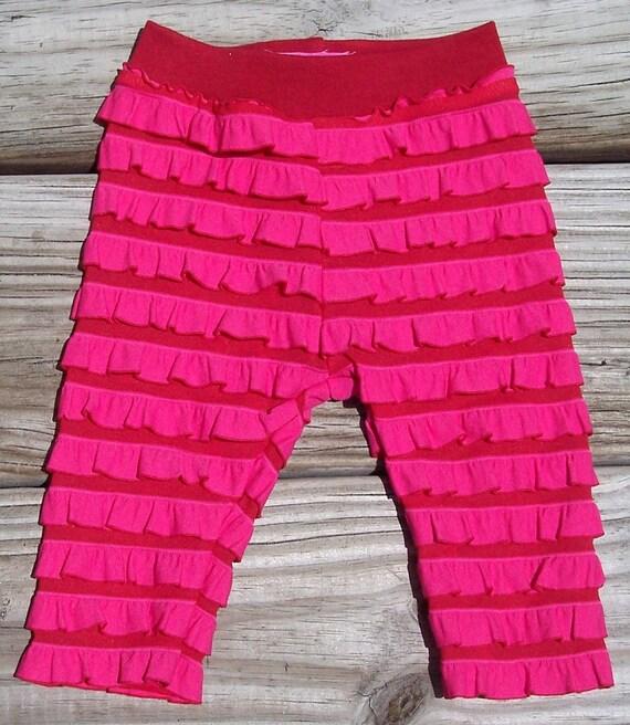 Ruffle fabric legging tights