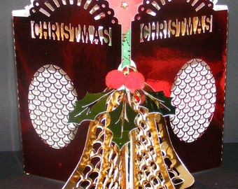Digital Cutting Template Christmas 3d Tree Door Card. SVG,GSD,WPC,KNK,AI FORMATS