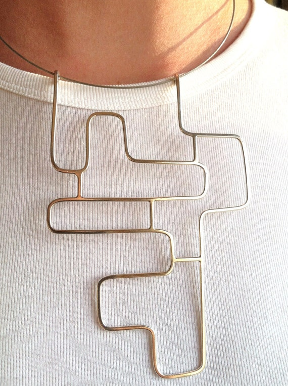 Necklace - Geometric Linear Angled