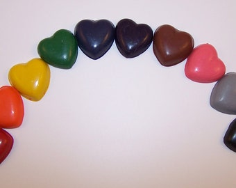 Set of 30 Hearts - Recycled Crayons hand-poured by kids with love