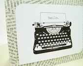 Typewriter Custom Message Handmade Greeting Card