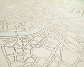SALE Rome Hand Drawn Map - was 350