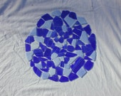 Blue Mix tumbled recycled glass - 1 Lb.