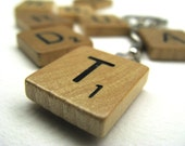 Scrabble tile keychain with your initial