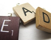 Scrabble tile initial pendant or charm - great personalized gift