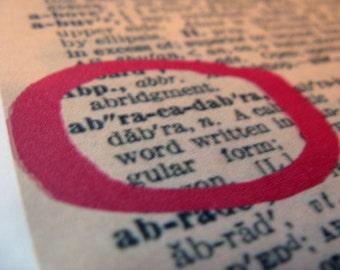 Vintage dictionary cards - ABRACADABRA