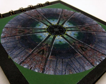Notepad with Kentucky forest pond photographic mandala