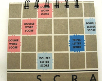 Scrabble board notepad - medium
