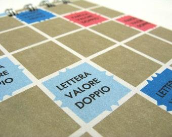 Italian Scrabble board notepad - large