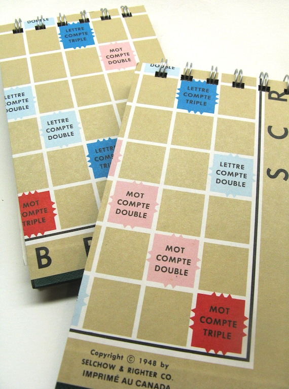 French Scrabble board notepad - large