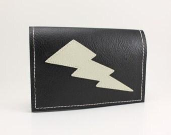 Black/White Lightning Bolt Mini Wallet - Takin' Care of Business