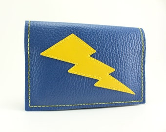 Blue Yellow Lightning Bolt Mini Wallet - We got what you need