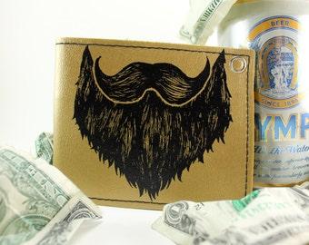 ON SALE - Golded Beard Billfold Wallet - Tryin to keep it CLASSY