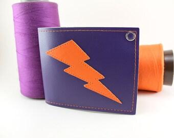 Purple and Orange Lightning Bolt Wallet - Phoenix Suns Edition