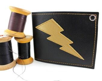 Black Gold Lightning Bolt Wallet - Takin' Care of Business - TCB BABY