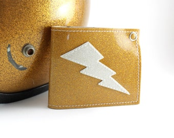 Gold Metal Flake Lightning Bolt Wallet - TCB'n All Day Everyday - Other Flakes to choose from