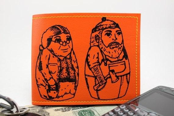 ON SALE - Orange Matryoshka Billfold Wallet
