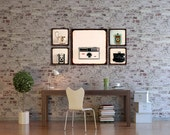 Wood Photo Blocks - Vintage Camera Art - Camera Love -    wood art, ready to hang, wood decor, wood blocks