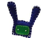 Split Hare felt magnet