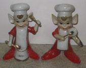 Vintage Large Kitchen Helpers Pixie Elves Figurines/Good Luck Elves