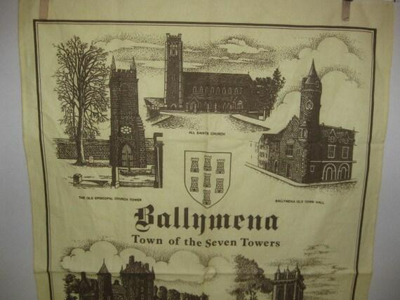 Vintage Ballymena Tea Towel - 1993 - Ireland