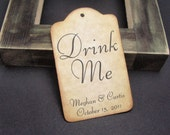 Drink Me tags - set of 48 -  Customized for your occasion - by Just Scraps N Things