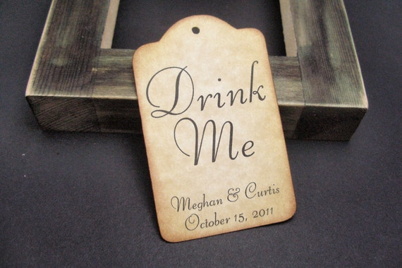Drink Me tags - RESERVED - by Just Scraps N Things