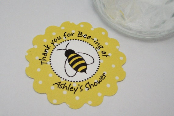 Bee Baby shower tags - by Just Scraps N Things