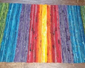 Reserved Lisiting - CUSTOM ORDER-Rainbow Power RUG - Woolen Handweaving