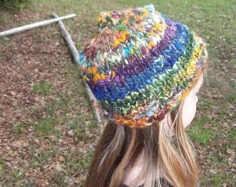 Handknit Wooly Elven Hat - Forest Creek