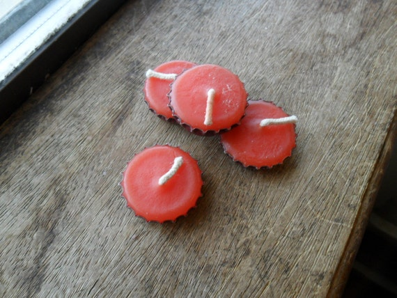 beer cap candles, bottle cap candles, sex on the beach scent, red candles (4)