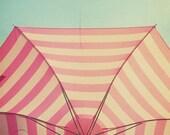 Pink Umbrella Aqua Sky