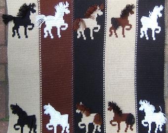 Pony Express Blanket HAND Knitting Pattern PDF