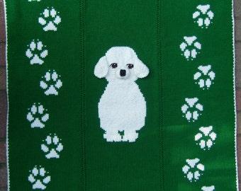 Puppy Love Blanket HAND Knitting Pattern PDF