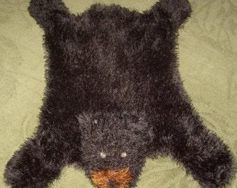 Bear Hug Rug MACHINE Knitting Pattern PDF