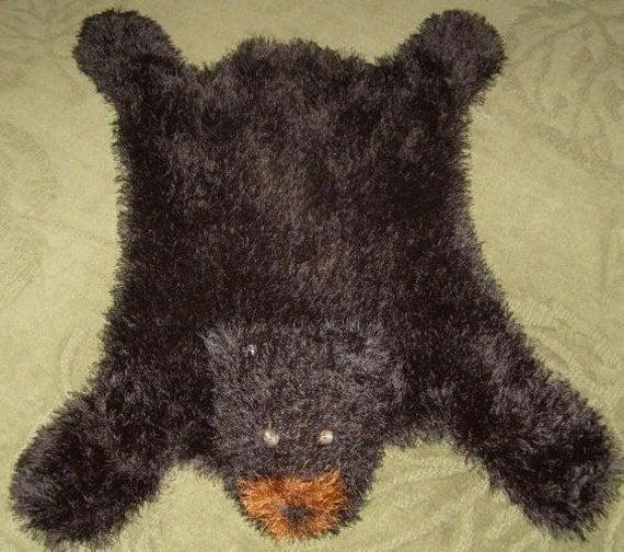 Knitting Pattern For Rug : Bear Hug Rug MACHINE Knitting Pattern PDF by dancingfabrics