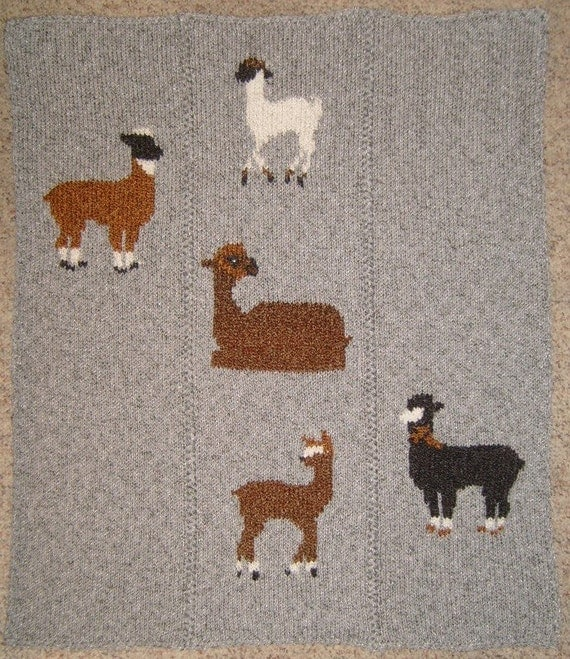 Grazing Alpacas Hand Knitting Pattern PDF & VIDEO Tutorial