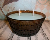 Lime Cooler Soywax Candle in Brown Vintage Glass