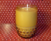 RESERVED FOR LHP    Banana Nut Bread Soywax Candle in Amber Hobnail Glass