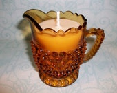 Chocolate Chip Cookie Soywax Candle in Vintage Hobnail Creamer
