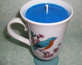 Rain Water Soywax Candle in Footed Bird Cup