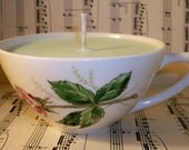 RESERVED FOR LILY-------Meadow Soywax Candle in Rose Tea Cup