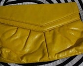 Vintage Yellow Clutch