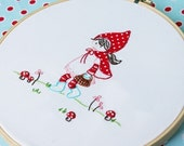 Litte Red Riding Hood Embroidery PATTERNS - Set of 2