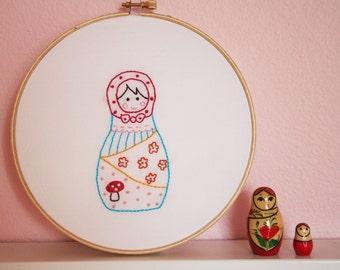 Mushroom Russian Sweetie Embroidery Pattern