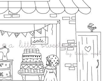 Window Shopping Embroidery PATTERN