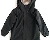 Snood Hood Jacket For Kids. BLACK. Height 116 - kokokoshop
