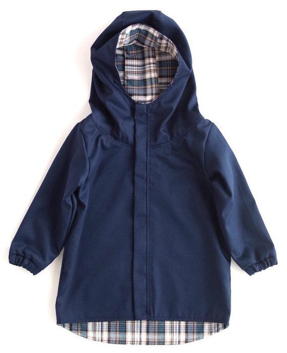 Snood Hood Jacket For Kids. NAVI BLUE. Height 116